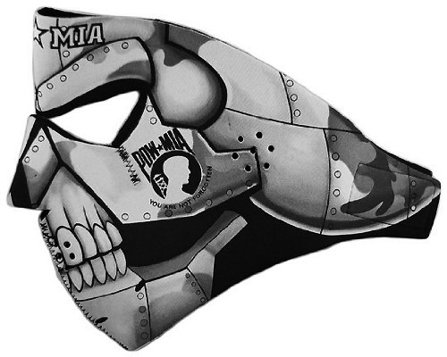 POW / MIA Support Iron Skull Neoprene Biker Face Mask