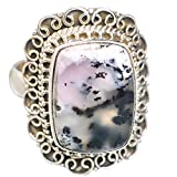 Dendritic Opal, Opal Dendritique Argent Sterling 925 Bague 9