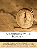 img - for An Address By J. B. Foraker .. book / textbook / text book