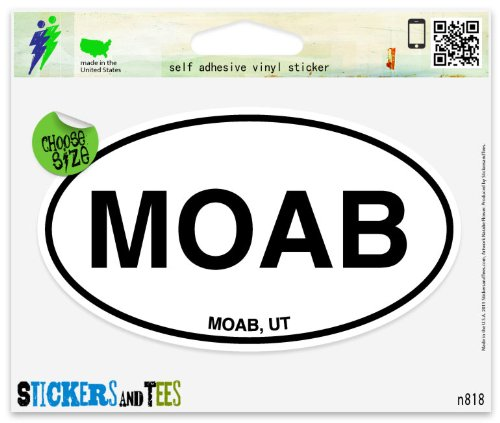 moab-utah-white-oval-vinyl-car-bumper-window-sticker-5-x-3