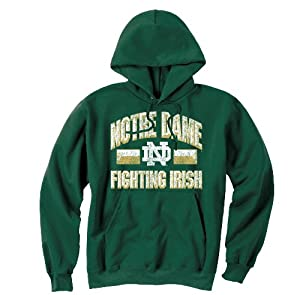 Notre Dame Fighting Irish Vintage Hooded Sweatshirt Green by Champion