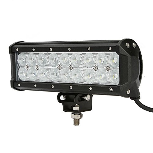 2Pcs 54W Led Light Bar 18P 3W Cree Chips Flood Pattern 3780Lm-5400Lm 9-32V For Off-Road Vehicle Pickup Pick-Up Car Suv Truck