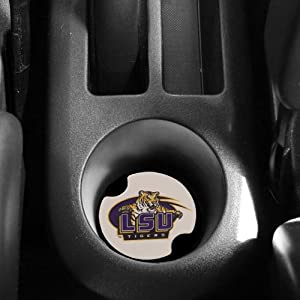 Buy NCAA LSU Tigers 2-Pack Ceramic Absorbent Carster Coasters by Thirstystone