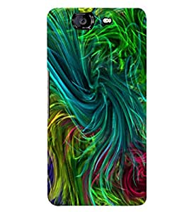MULTI COLOURED GRASSY PATTERN 3D Hard Polycarbonate Designer Back Case Cover for Micromax Canvas Knight A350