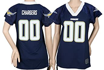 San Diego Chargers NFL Ladies Field Flirt Fashion Team Jersey, Navy by Reebok