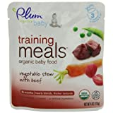 Plum Organics Baby Training Meals, Vegetable Stew with Beef, 4-Ounce Pouches (Pack of 12) ~ Plum Organics