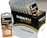 Duracell Hearing Aid Batteries Size 13 Pack 60 Batteries