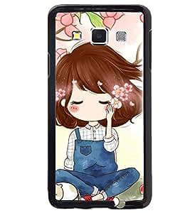 Printvisa Cute Girl Sitting Under A Tree Back Case Cover for Samsung Galaxy A3::Samsung Galaxy A3 A300F
