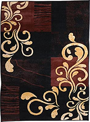 """Home Dynamix Premium Collection HD1879-502 Area Rug, 7'8"""" by 10'7"""", Ebony"""