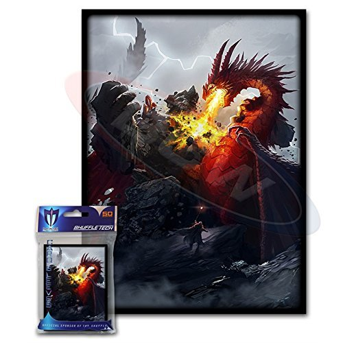 (100) Max Protection Death Grip Design Large Gaming Trading Card Protector Sleeves for Magic the Gathering, Pokemon, World of Warcraft, Kaijudo Duel Masters and Cardfight Vanguard Cards - 1