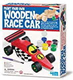 4M Paint Your Own Wooden Race Car