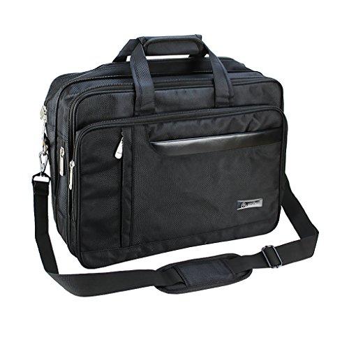 """Men's Classic Carry-all-Cartella espandibile Business Borsa a tracolla, borsa per Laptop, Computer 39,62 (15,6"""") cm per Macbook Pro, Macbook Air, portatili da viaggio per la scuola nero B# Laptop Screen 16"""" 16 inch"""