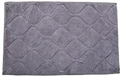 D E Home Bath Mat - Dark Grey