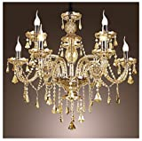 Unitary™ Modern European Luxury Gold Crystal Chandelier Max 360W With 9 Lights Chrome Finish
