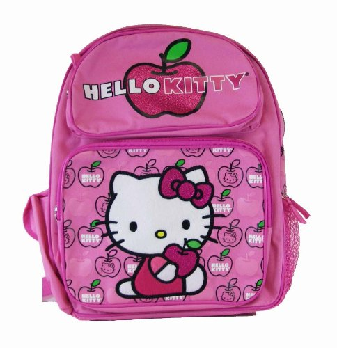 Sanrio Hello Kitty Backpack – Kitty Hug Apple School Backpack (Medium Size)