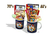 Sweet and Nostalgic Wonder Woman POW Mug with a lush selection of 70's retro sweets 630gms