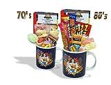 Sweet and Nostalgic Wonder Woman POW Mug with a lush selection of 70's retro sweets 630gms
