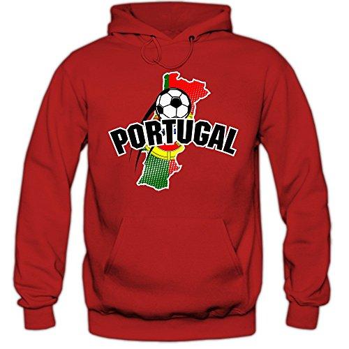 Portugal EM 2016 #1 Hoody   Fußball   Herren   Trikot   Nationalmannschaft, Farbe:Rot (Red F421);Größe:S
