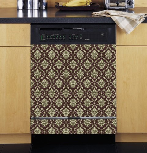 Grip Promotions 10240 Damask Appliance Art- Brown Cream- Small