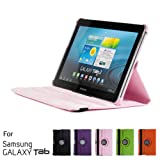 GMYLE(R) 360 Degree Rotating PU Leather Folio Stand Case Cover For Tablet Galaxy Tab 1 2 10.1 P7510 P5100 With...