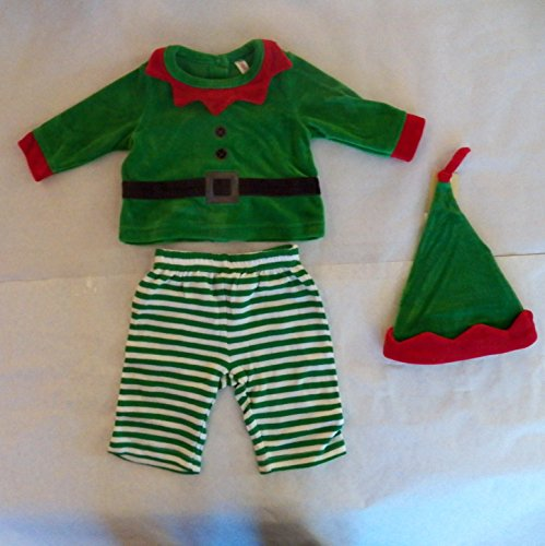 Cherokee Baby Boy Elf Outfit with Santa Hat