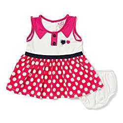 Camey Girls Hearts Frock Set (PINK, 18-24 Months)