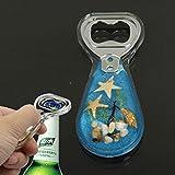 Amber Style Blue Pattern Design Bottle Opener Soda Cola Beer Decapper ~