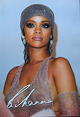 Rihanna great POSTER 21 x 14.5 see through dress higher qual sexy pop starlet (sent FROM USA in PVC pipe)