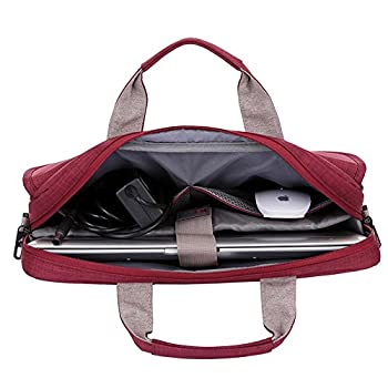 BRINCH® New Style Oxford Fabric Unisex Universal Luxury Portable Laptop Sleeve Case Carrying Messenger Bag Shoulder Briefcase Handbag For 15 - 15.6 Inch Laptop 2