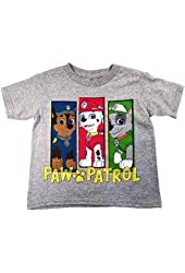 Nickelodeon Paw Patrol Little Boys Short Sleeve Grey T-Shirt