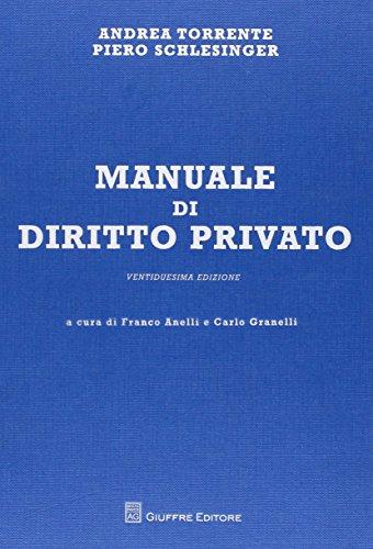 Manuale di diritto privato PDF