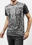 (ドルチェ&ガッバーナ) DOLCE&GABBANA クルーネックTシャツ ノルマンキングマキシプリント グレー [並行輸入品]