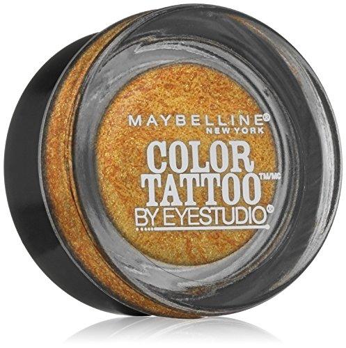 Maybelline New York Eye Studio Color Tattoo Metal 24 Hour Cream Gel Eyeshadow, Gold rush, 0.14 Ounce (Pack of 2) maybelline maybelline тени для век eyestudio color tattoo 101 морозное дыхание 4 мл
