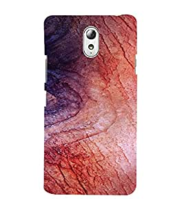 PrintVisa Wooden Design 3D Hard Polycarbonate Designer Back Case Cover for Lenovo Vibe P1M