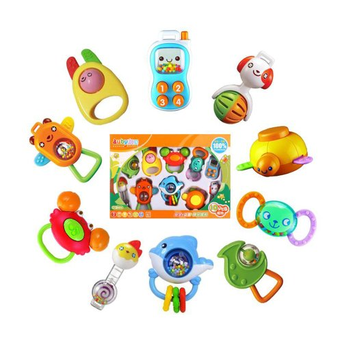 10 PCS rattle toys suit baby educational toys