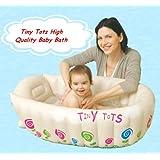 Tiny Tots Baby Infant Travel Inflatable Bath Tub Cream Colour