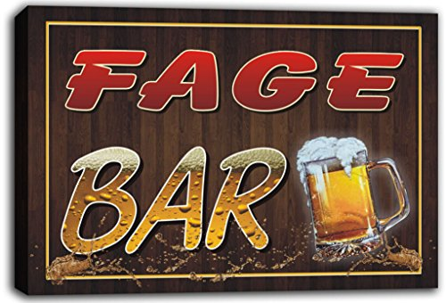 scw3-098886-fage-name-home-bar-pub-beer-mugs-cheers-stretched-canvas-print-sign
