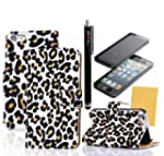 M-LV iPhone 4S 4 4G Luxury Leopard Wa...
