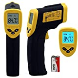 Etekcity® DT-8380 Non-Contact Infrared (IR) Thermometer -26 to 716°/ F-50°C~+380°C Instant-read Digital Temperature Gun w/ Laser Sight, Backlit LCD, Padded, protective carrying case with belt loop; Battery included