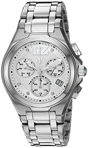 Technomarine Men's 'Manta Neo Classic' Swiss Quartz Stainless Steel Casual Watch (Model: TM-215012) (Technomarine Techno Diamond compare prices)