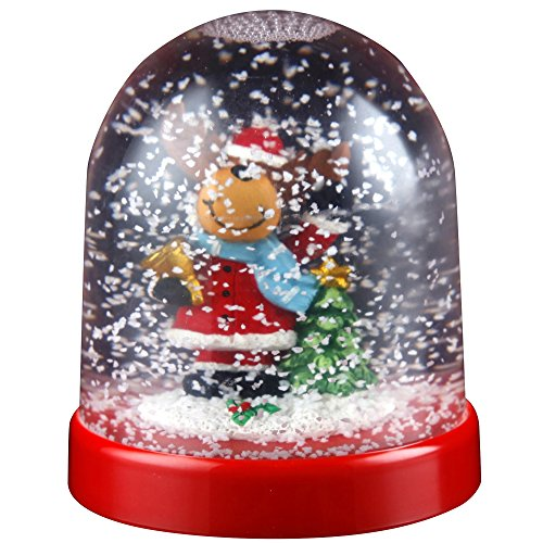 Christmas Shop Character Snowglobe Decoration (One Size) (Reindeer)