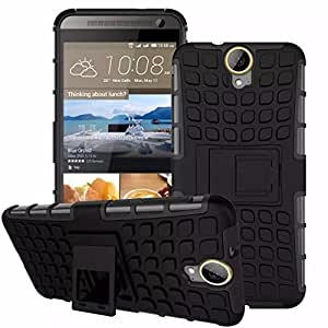 Kapa Dual Layer Shock proof Defender Stand Back Case Cover For HTC One E9 + PLUS - Black
