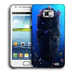 Snoogg Under Sea Face Printed Protective Phone Back Case Cover For Samsung Galaxy S2 / S II