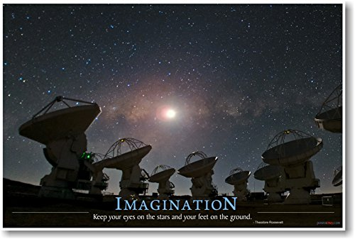 Imagination - Keep Your Eyes On The Stars - New Classroom Motivational Poster