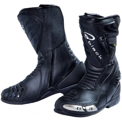 Black Zero Air CE Motorcycle Boots 42 Black (UK8)