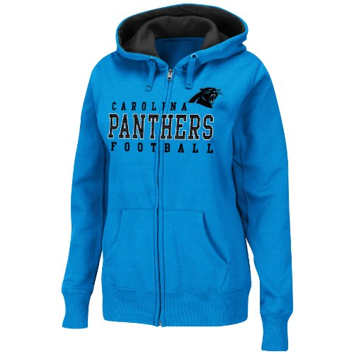 Nfl Carolina Panthers Women'S Deep Post Iii Hooded Jacket, Electric Blue, X-Large