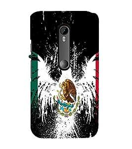 Vizagbeats Eagle and snake Back Case Cover for Motorola Moto g3