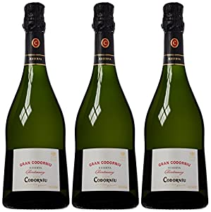 Codorniu Gran Chardonnay Reserva Brut Nature Cava NV 75cl (Case of 3)