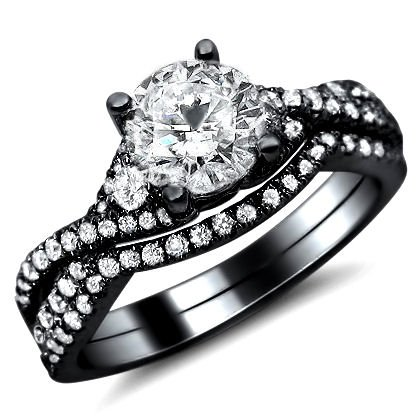 1.45ct Round Diamond Engagement Ring Bridal Set