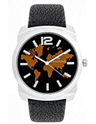 Swisstone GR0018-BLACK Black Dial Black Strap Analog Wrist Watch For Men/Boys